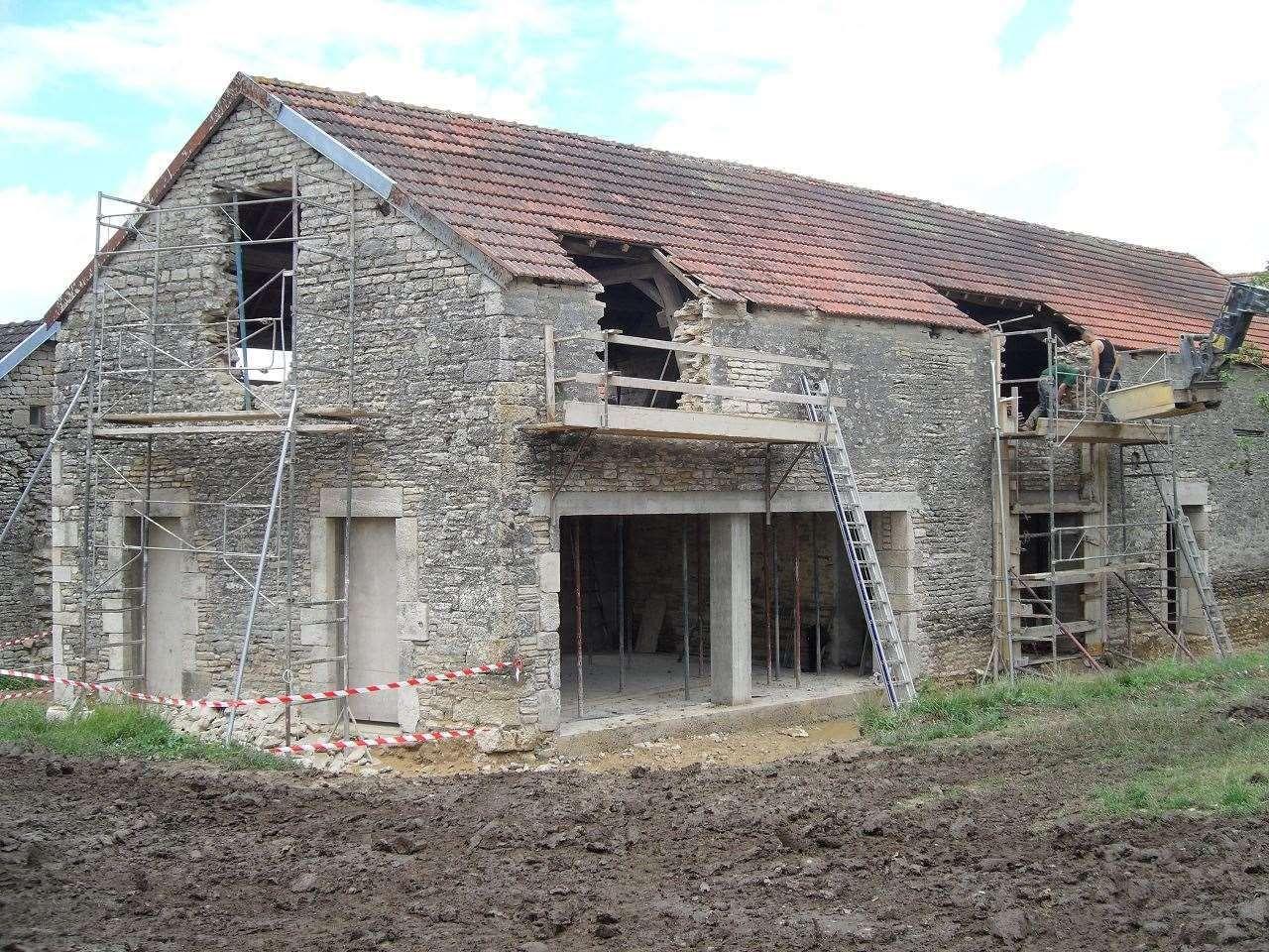 R novation ch tillon sur seine dechaud fabrice maison for Architecte renovation ferme